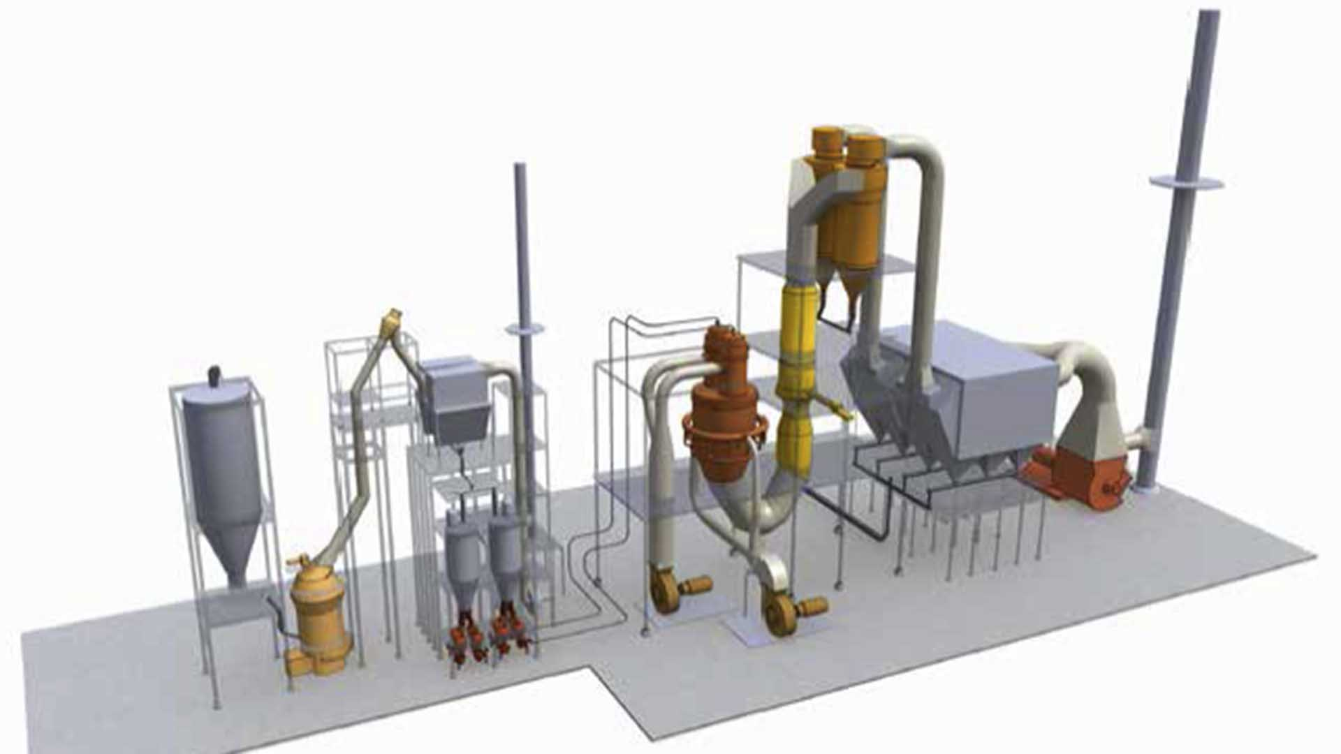 Processing the finest materials: Flash Dryer / Heater