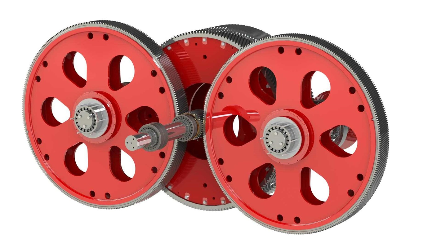 Set of rotating parts for SYMETRO gear unit with bearings