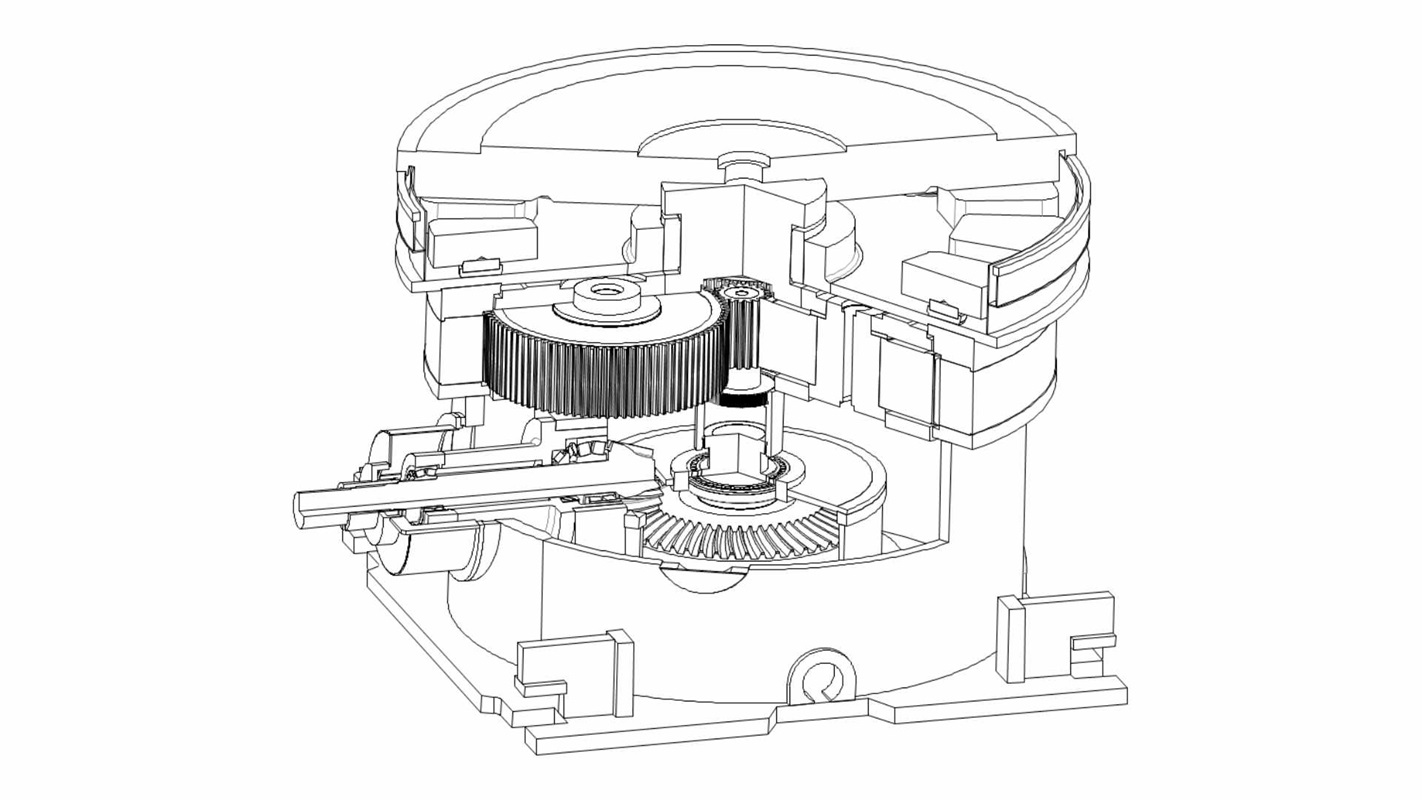 Two-stage, bevel-planetary MAAG® WPU gear unit in sectional view