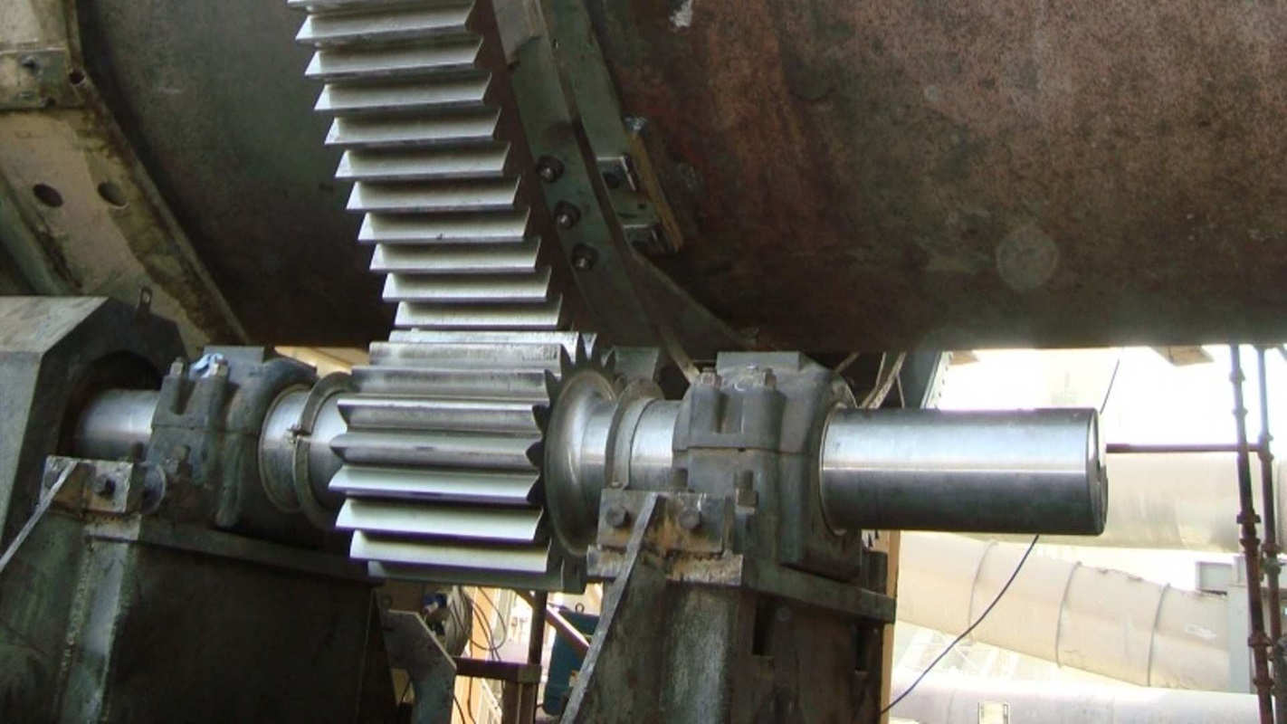 Final installation of a MAAG® Pinion and Girth Gear for on a cement kiln