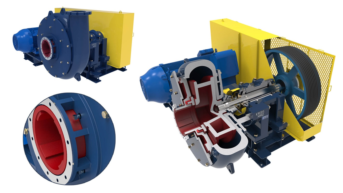 krebs gravelMAX wear ring slurry pump technology
