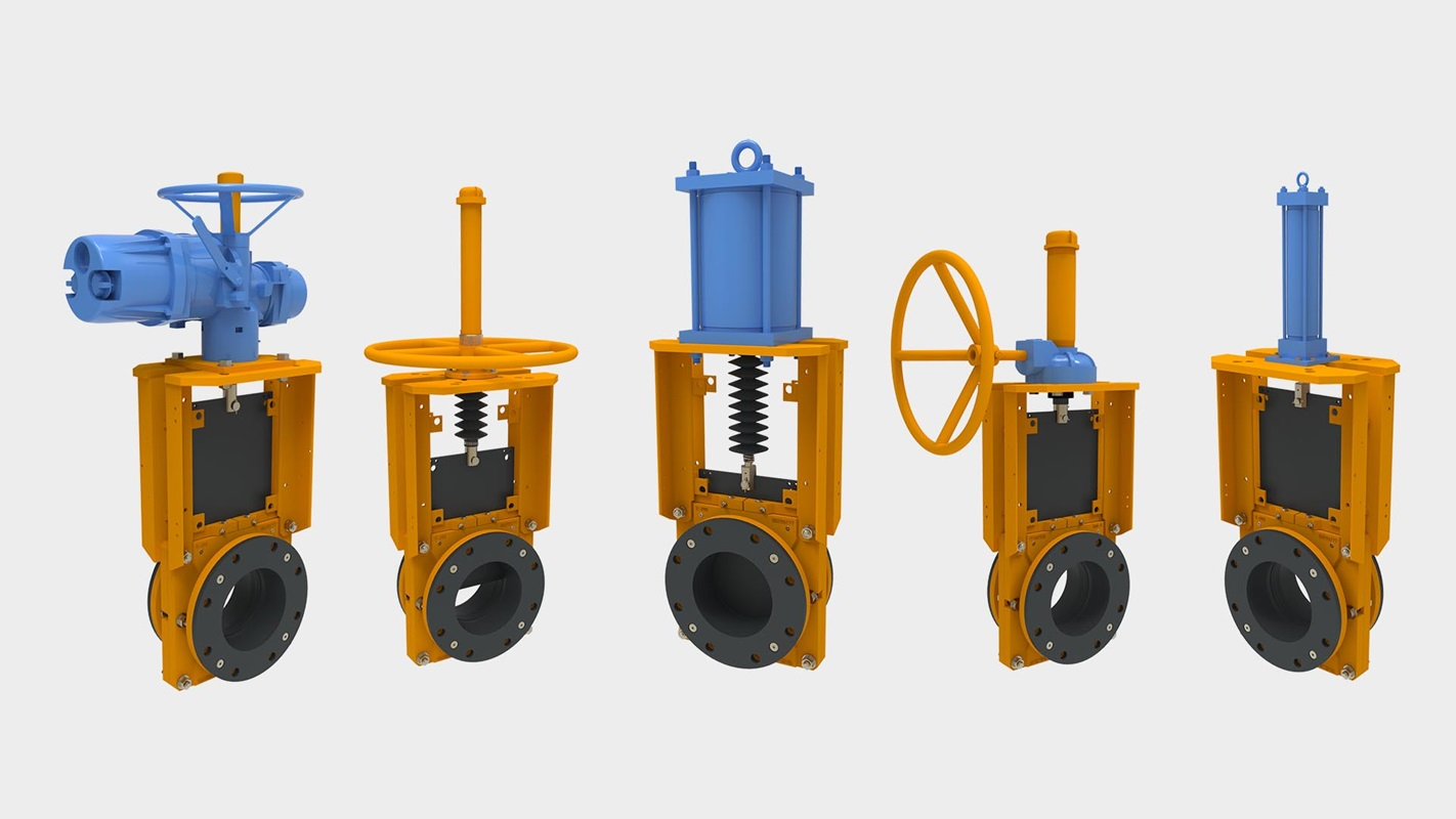 KREBS TG Knife Gate Slurry Valves for slurry handling