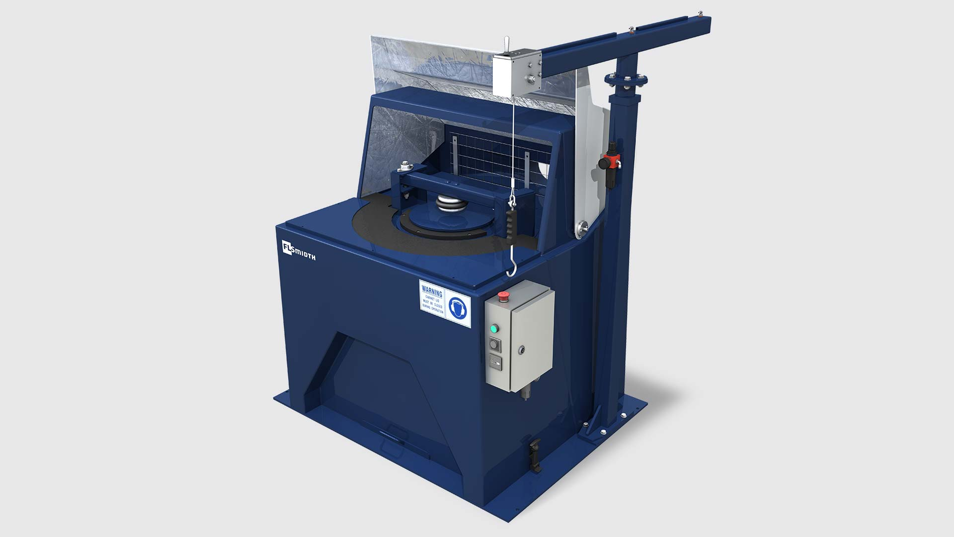 LM5 pulverising mill - cover open