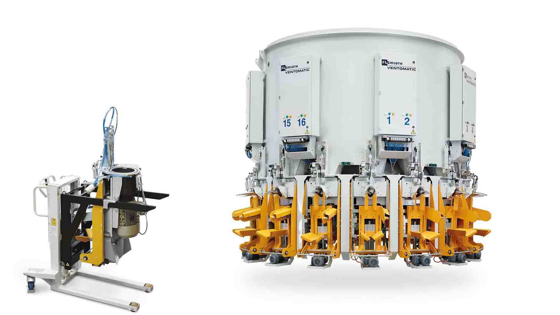 """VENTOMATIC GIROMAT filling unit can be use as """"spare part"""" replacing one installed fpr maintenance"""
