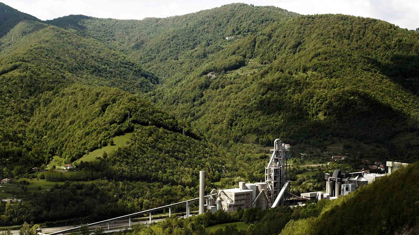 cement plant in forest