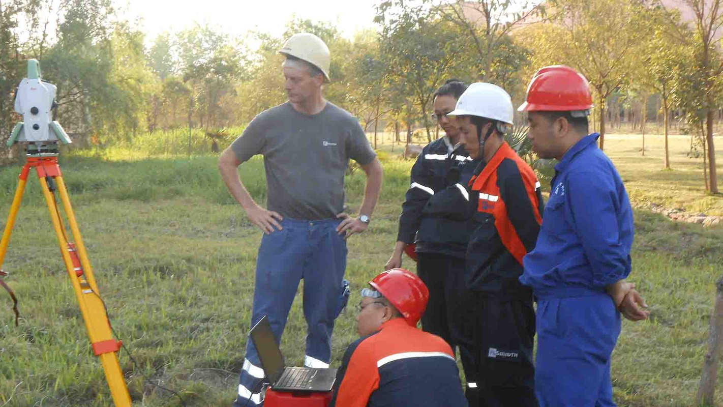kiln alignment training at site